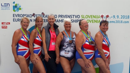 British one-two at European Masters Synchro Champs