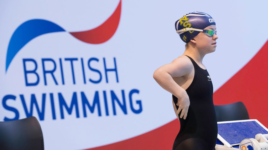 Maisie-Summers Newton at the British Para-Swimming International Meet.