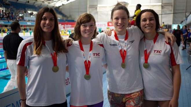 World record for Teddington at Swim England Masters National Champs