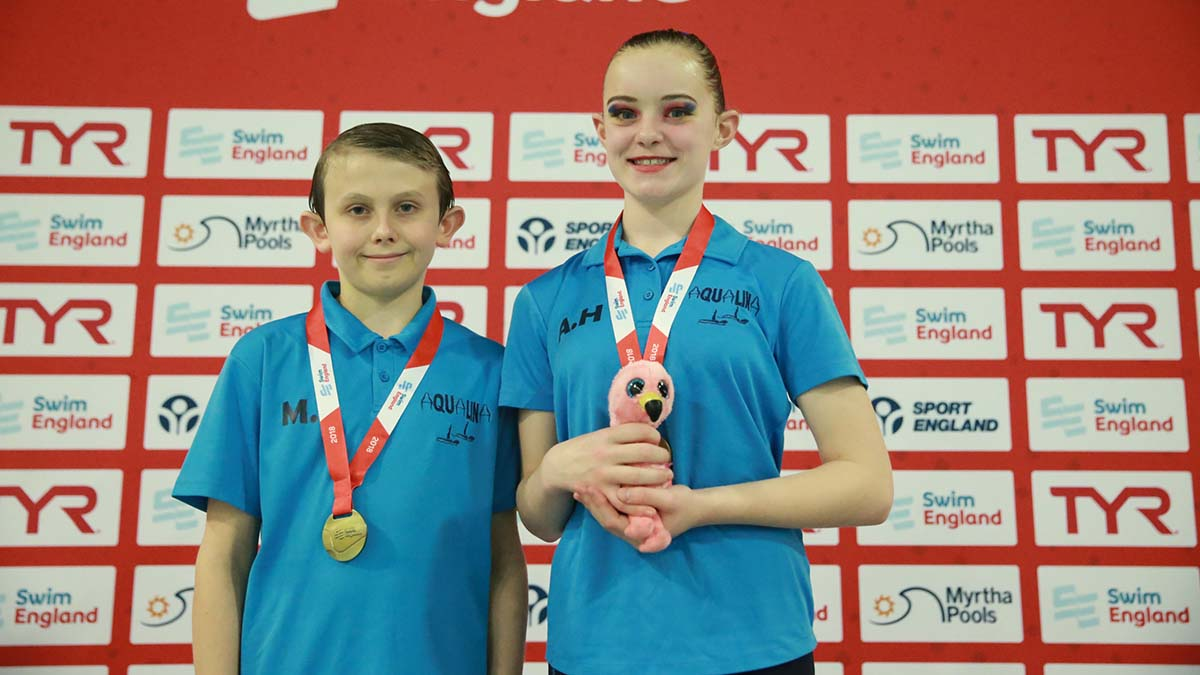 Aqualina won the 12 years and under mixed duet event