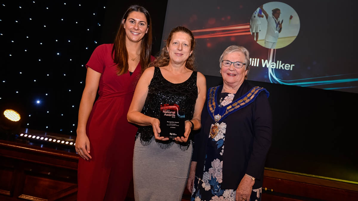 Jill Walker received a special recognition award for Services to Aquatics