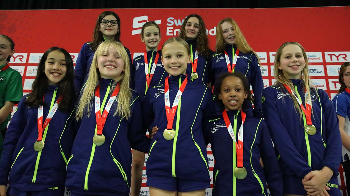 London Regional won the 12 years and under free team title at the Swim England Synchronised Swimming National Age Group Championships