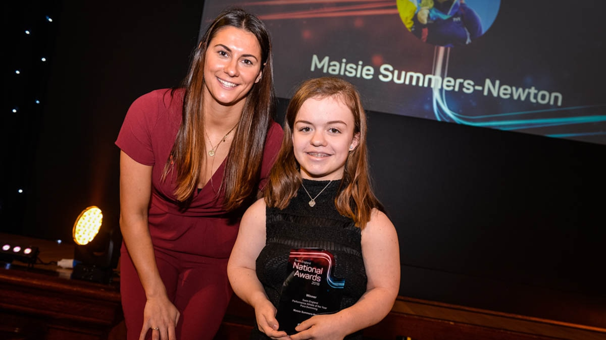 Maisie Summers-Newton and Aimee Willmott at the Swim England National Awards 2018