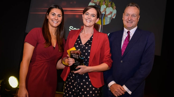 National award 'means a lot' to Sport for Confidence CIC team