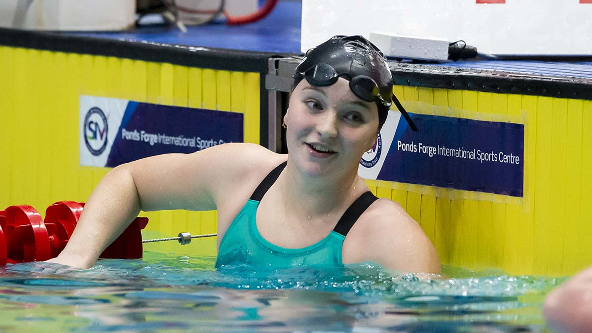 Abbie Wood won gold in the 400m Individual Medley at the National Winter Championships