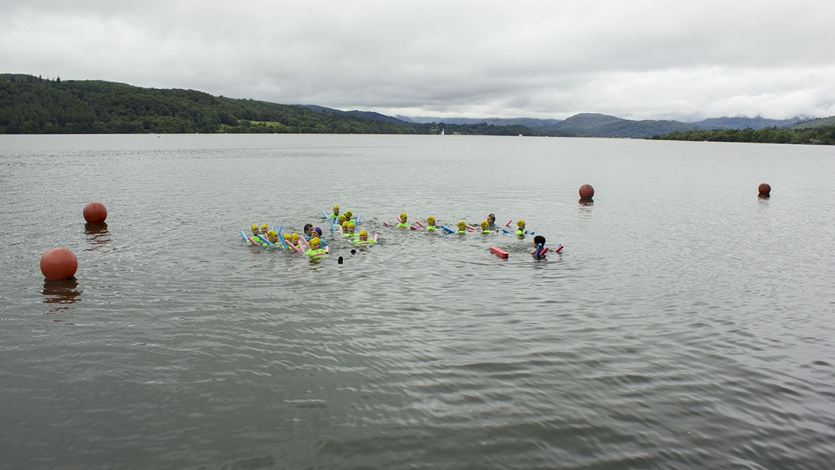 A Swim Safe session at Lake Windermere