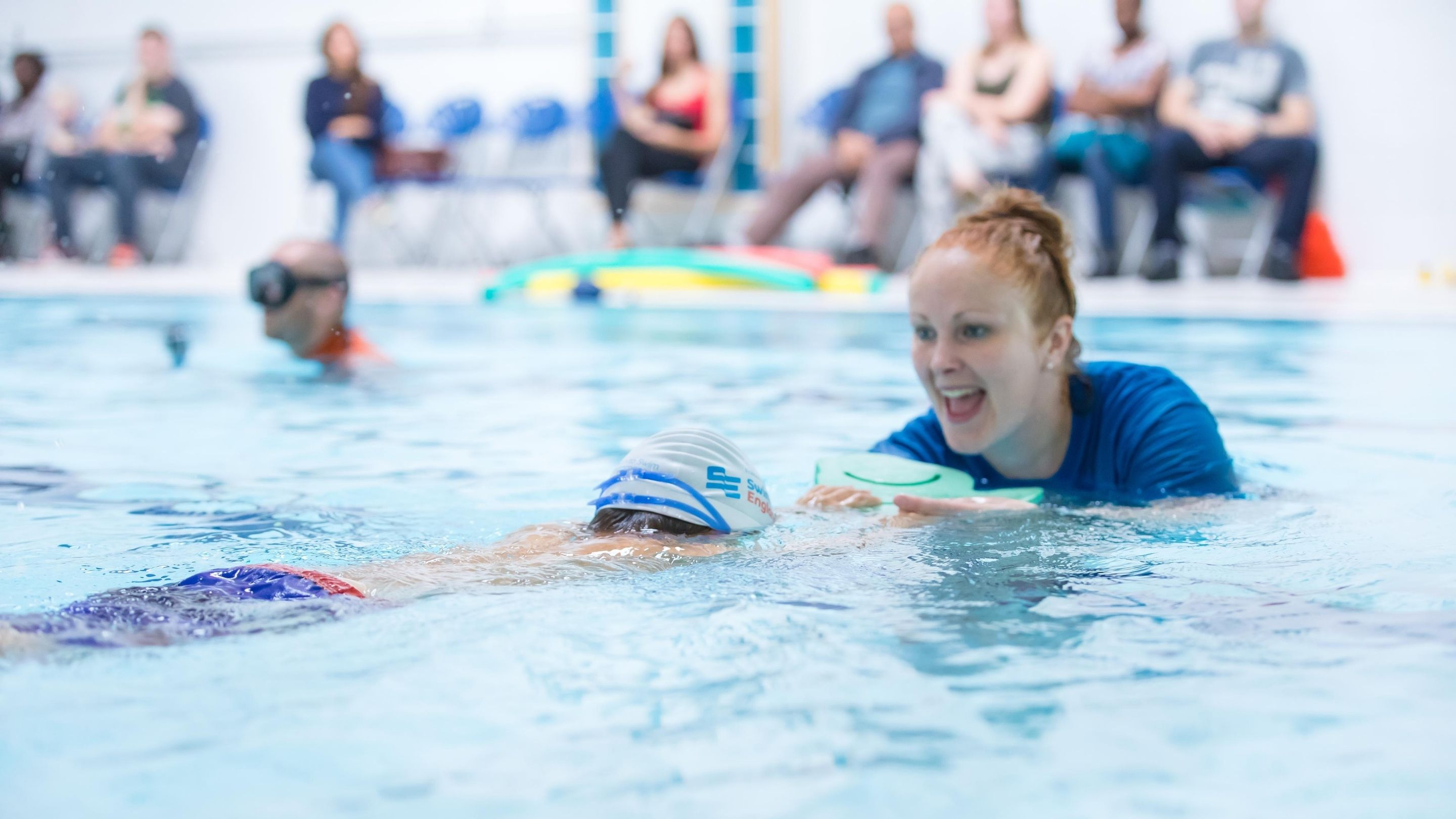 Deaf and Visually Impaired Friendly Swimming