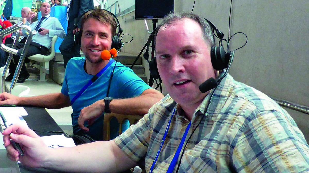 Bob Ballard with former Olympic diver Leon Taylor
