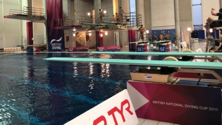 Swim England Talent divers gaining experience at British National Diving Cup