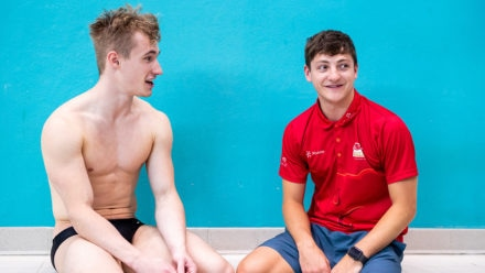 I used to dive against Jack Laugher when he was eight... and he would beat me