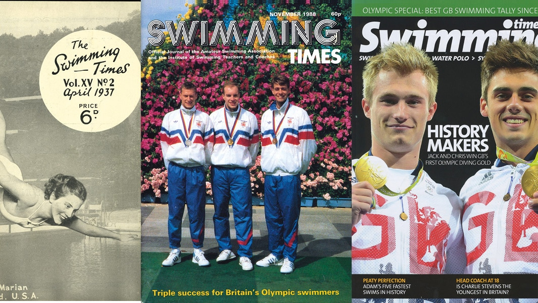 Swimming Times covers