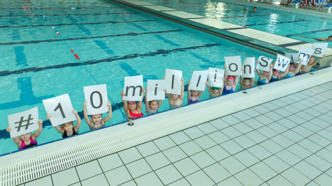 #10MillionSwims campaign smashes through halfway target
