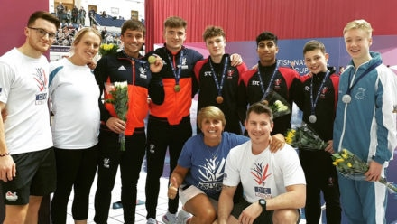 Tom Daley wins gold on return to action at British National Diving Cup