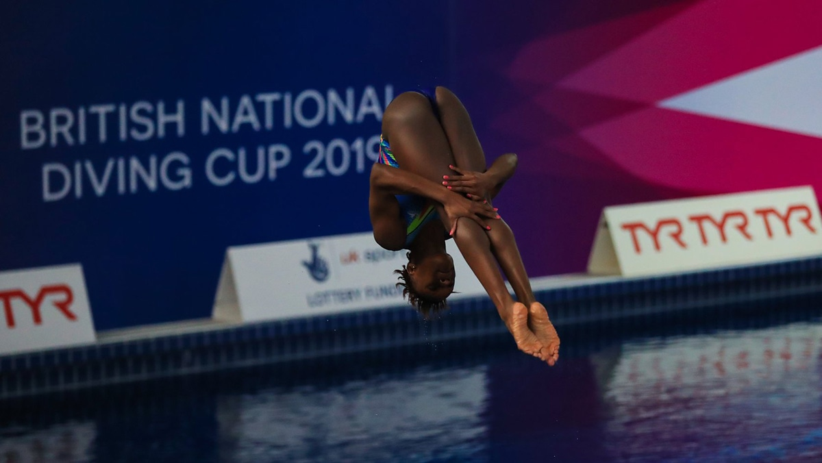 Desharne Bent-Ashmeil reached two finals at the British National Diving Cup