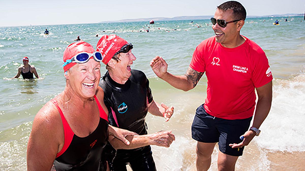 Bournemouth Pier to Pier Swim participants