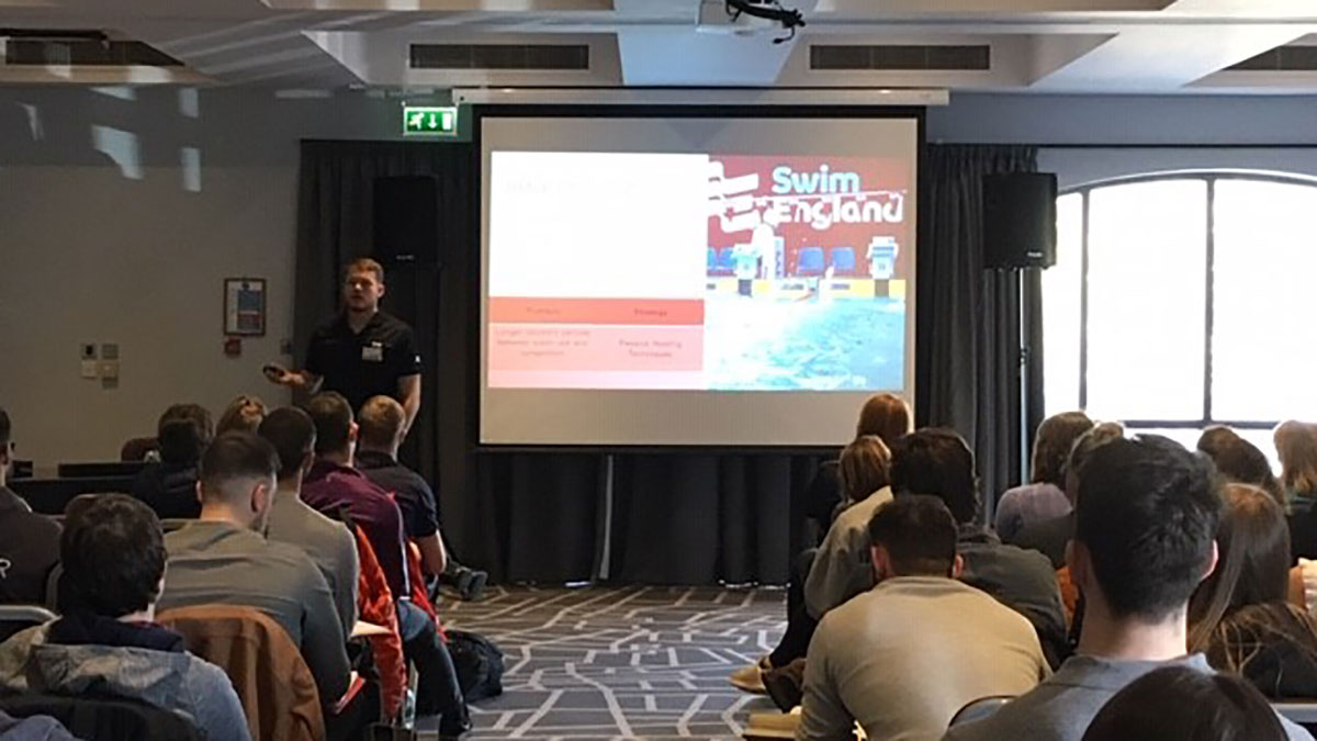 Presenting Swim England Sport Science and Medicine Conference 2019