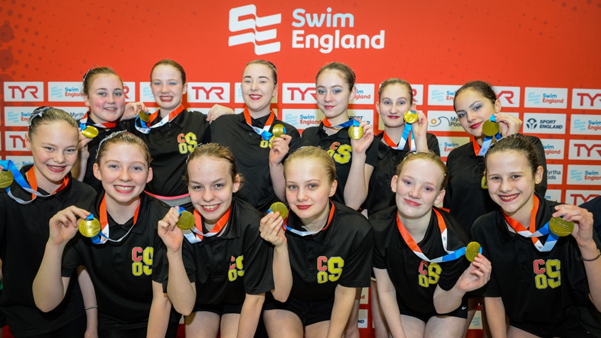 City of Salford won the 13-15 combination gold medal at the National Age Group Championships 2019