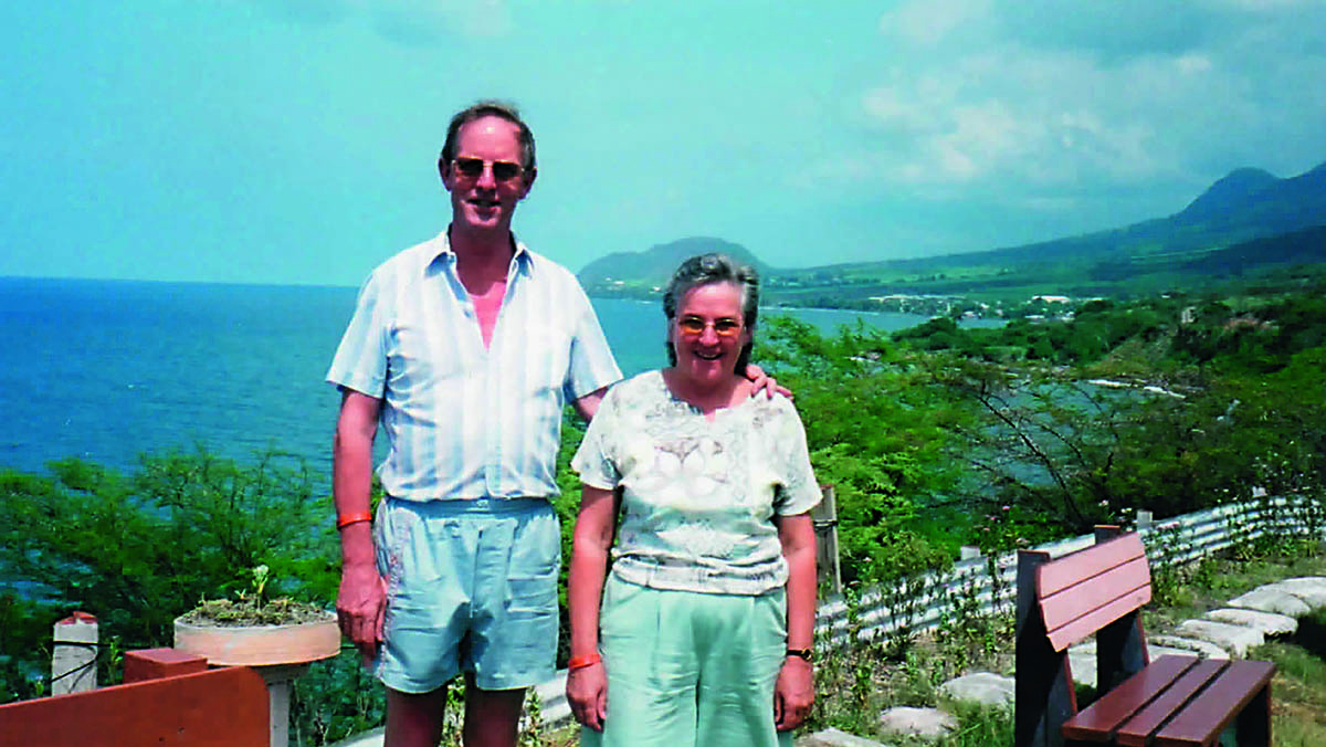 Liz Sykes with her husband, Graham