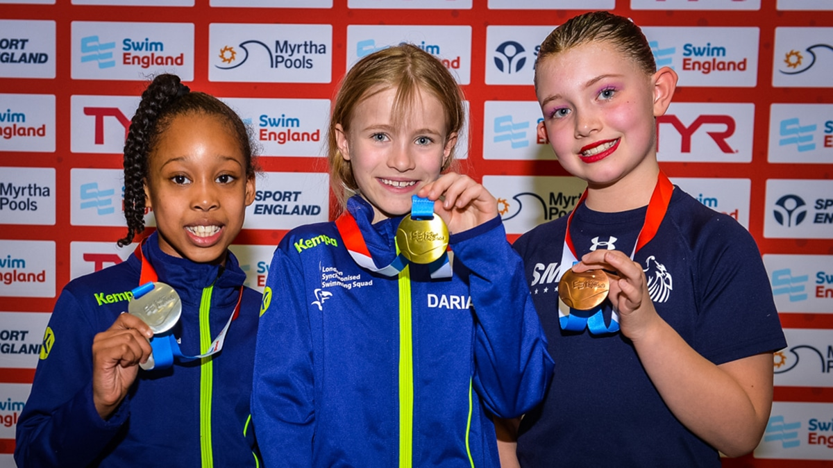 Daria Foronova won the gold medal in the 9-10 years figures at the National Age Group Championships