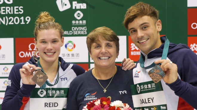 Tom Daley marks return to international stage with double medal haul