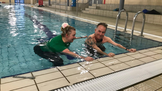 Swimming helps to soothe Dave's chronic back pain