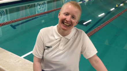 Swimming proves to be Helen's escape after cancer diagnosis