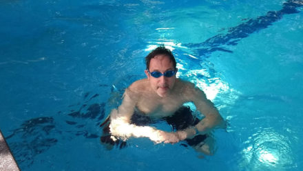 Swimming helps Henri stave off chronic pelvic pain syndrome