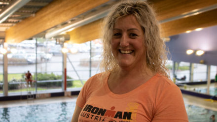 Learning to swim helped double cancer survivor Pam complete an IRONMAN