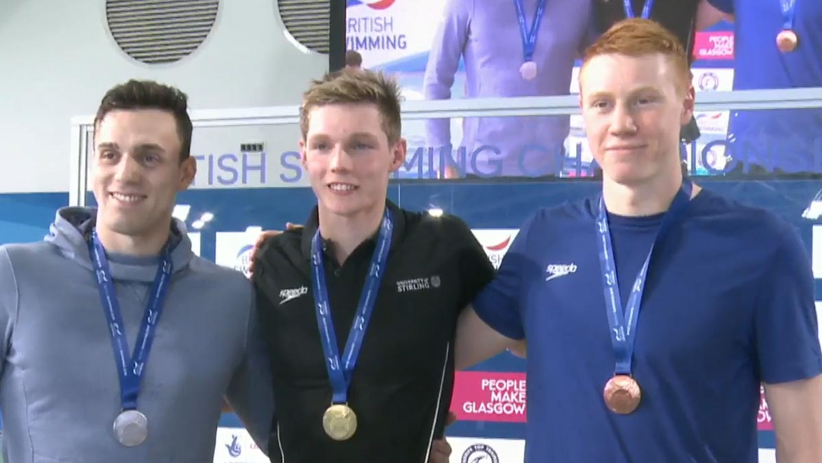 Duncan Scott won his third British Swimming Championships gold with success in the 200m Freestyle