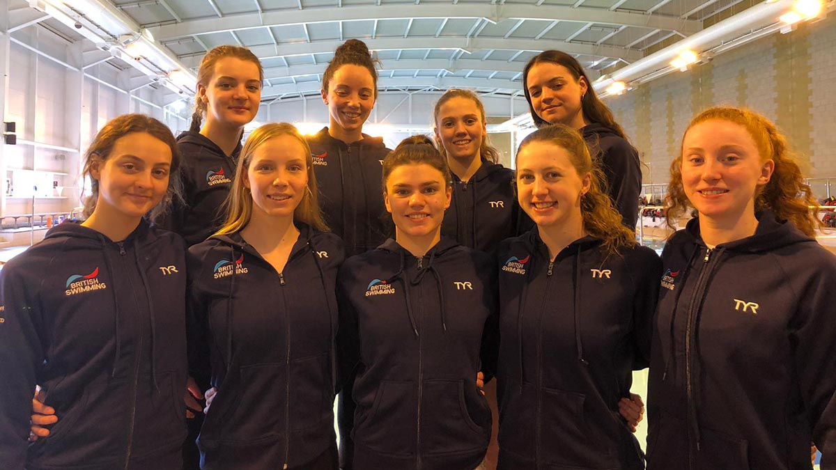 Great Britain's synchronised swimmers who will be competing at the LEN Cup in Russia in May