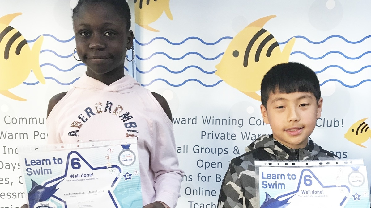 Children with Learn to Swim Awards