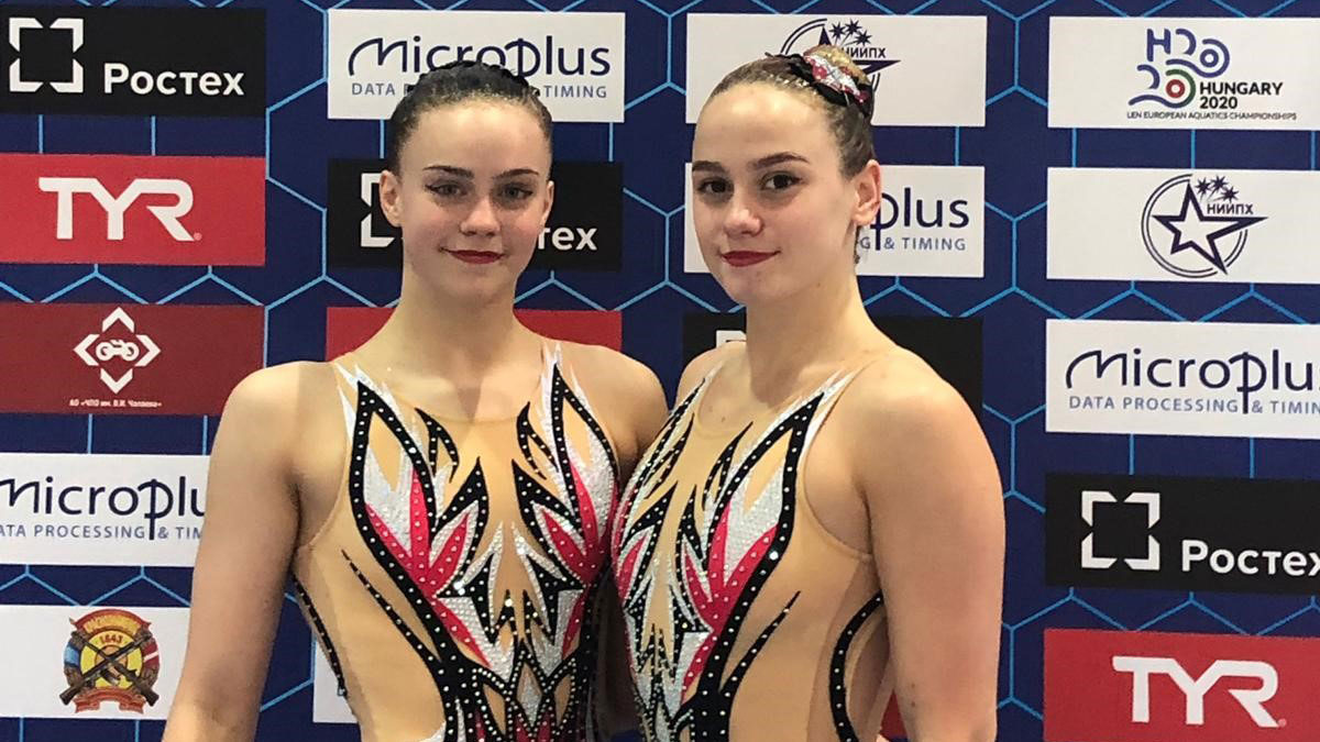 Kate and Izzy at LEN European synchro Cup