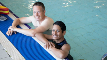Broadcaster Naga Munchetty takes up adult swimming lessons