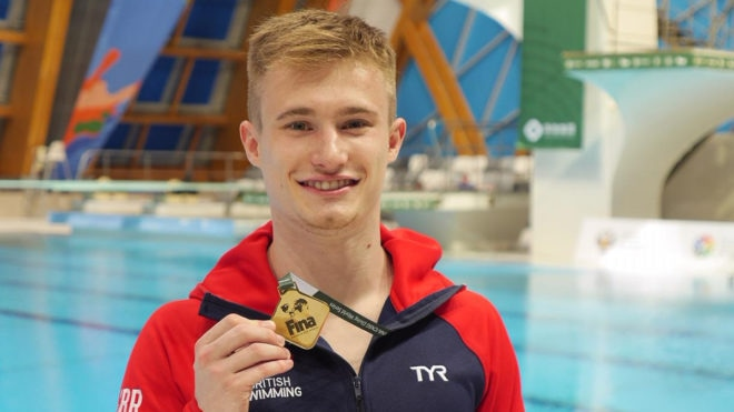 Jack Laugher claims first gold medal of FINA Diving World Series 2019