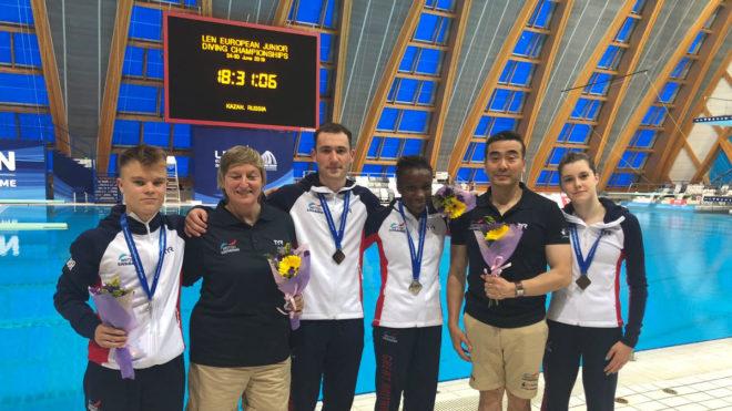 Great Britain claim team silver medal at European Junior Diving Championships