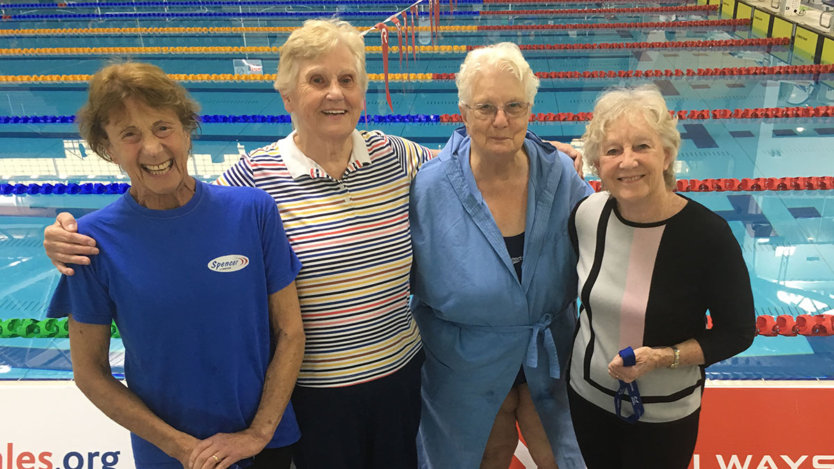 Spencer Swim Team set a world record in the 2019 British Masters Championships, 10 years after setting another world best