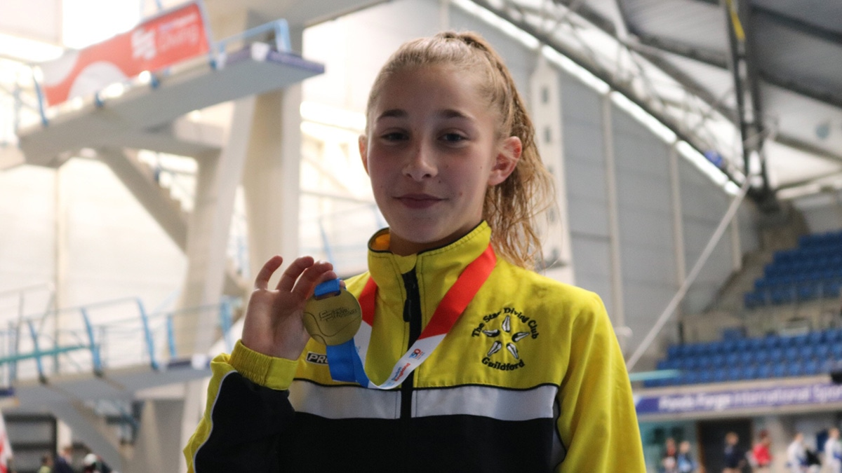 Lily Chandler won gold in the Swim England Diving National Age Group Championships at Sheffield's Ponds Forge