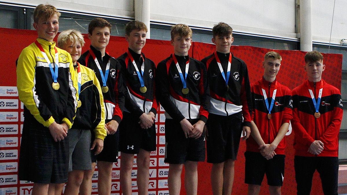 Medallists in boys 14-18 years 3m synchro