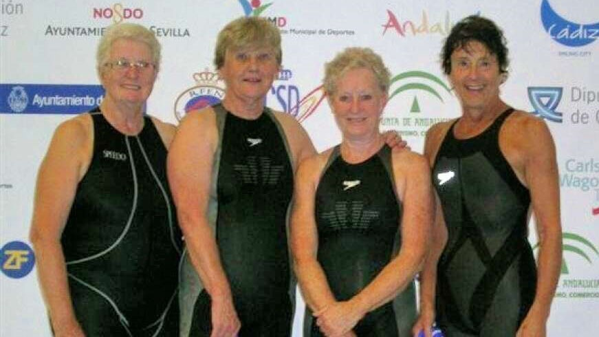 The Spencer Swim Team that set a new world record in the 2009 British Masters Championships