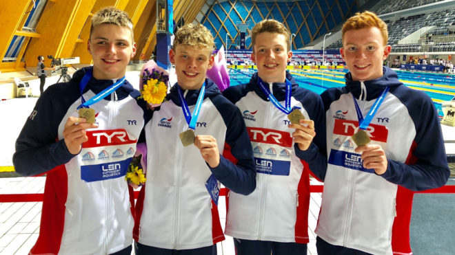 Double medal joy for Britain at European Junior Swimming Championships