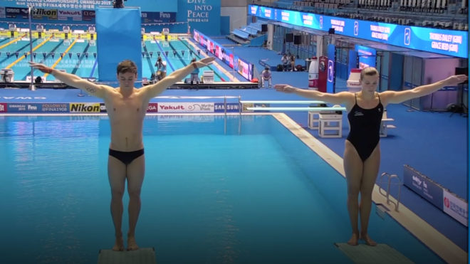 Daley and Reid pipped to World Championships bronze in mixed synchro