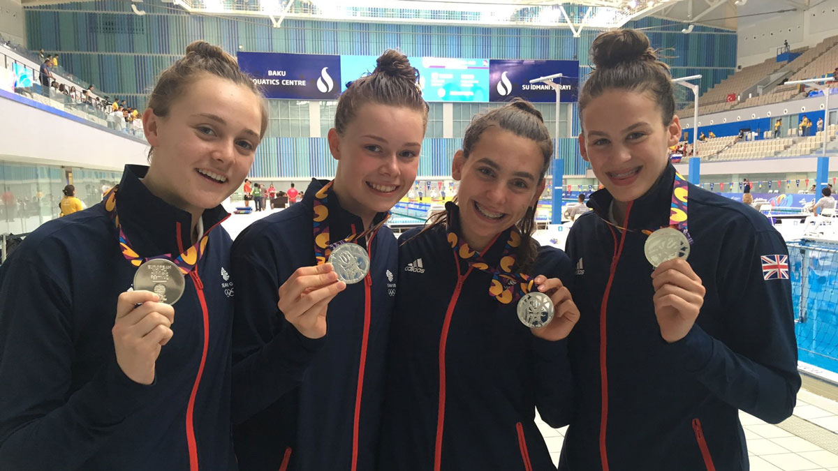 Girl's relay silver at European Youth Summer Olympic Festival 2019