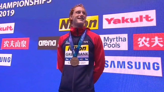 Luke Greenbank swims lifetime best to win bronze at World Championships