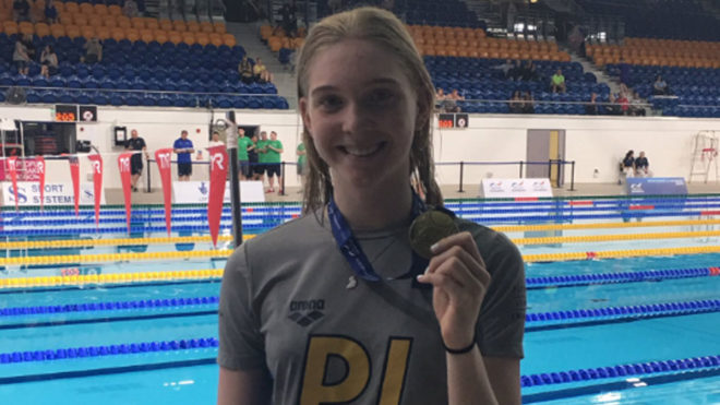 Plymouth Leander's Honey Osrin strikes gold at British Summer Championships