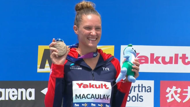 Jessica Macaulay wins high diving bronze at World Championships