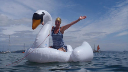 The open water love affair that led to an epic streak and charitable swims