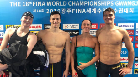 Britain's Mixed Medley relay team set up final showdown in Gwangju
