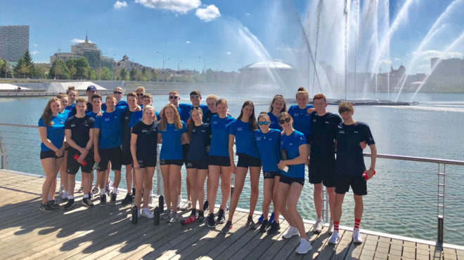 Young British swimmers prepare to take on Europe in Kazan