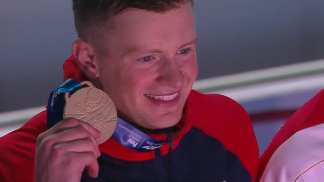 One-two for GB as dominant Adam Peaty wins third 100m Breaststroke world title