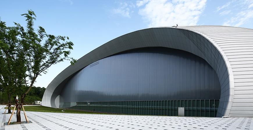 Nambu University Municipal Aquatics Centre. Venue for the swimming and diving at the FINA World Championships 2019 in Gwangju.